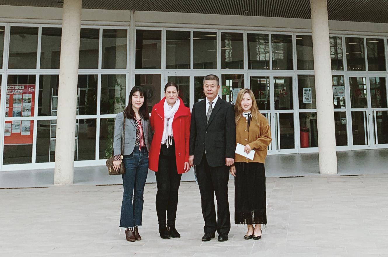 高晓东校长出访西班牙 深化国际办学合作